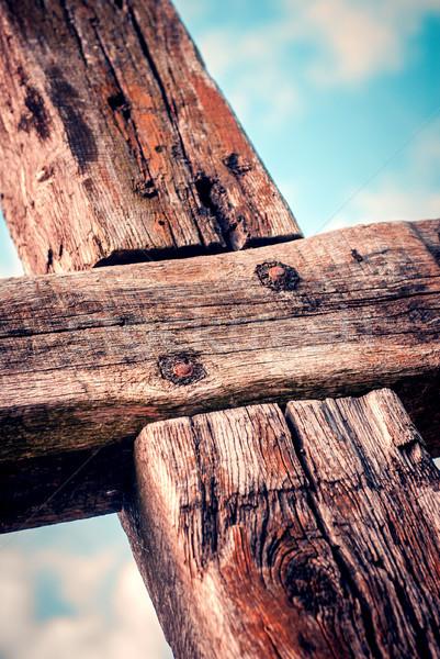 Crocifisso Pasqua Gesù Cristo passione Foto d'archivio © umbertoleporini