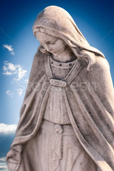 скульптуры Blue Sky лице матери голову белый Сток-фото © umbertoleporini