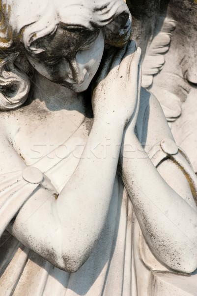 печально ангела скульптуры Библии жизни Бога Сток-фото © umbertoleporini