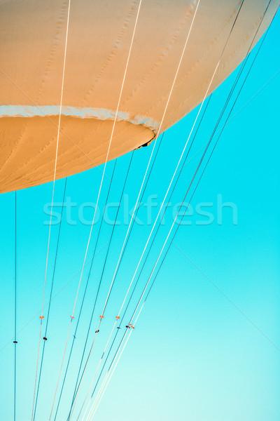 газ шаре кабелей синий лет Сток-фото © umbertoleporini