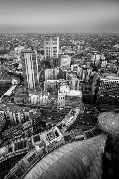 Milan view from above - black and white image Stock photo © umbertoleporini