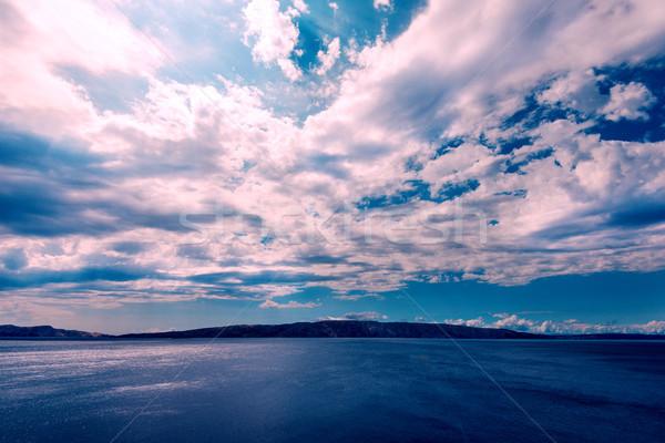 sea and dramatic sky Stock photo © umbertoleporini