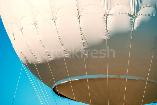 Gas ballon kabels Blauw Stockfoto © umbertoleporini