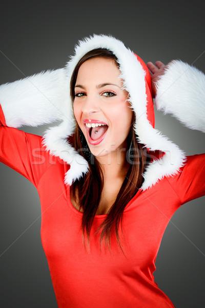 счастливым Рождества Дед Мороз весело молодые Сток-фото © umbertoleporini