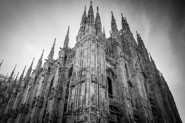 Milan pormenor preto e branco imagem Foto stock © umbertoleporini