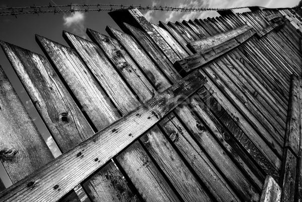 забор черно белые изображение Сток-фото © umbertoleporini