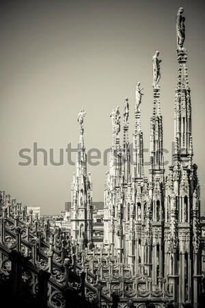 ミラノ 詳細 黒白 画像 ストックフォト © umbertoleporini