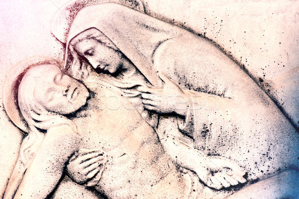 девственница более Иисус Христа страсти Сток-фото © umbertoleporini