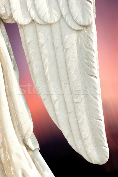 ангела крыло небе ребенка Библии печально Сток-фото © umbertoleporini
