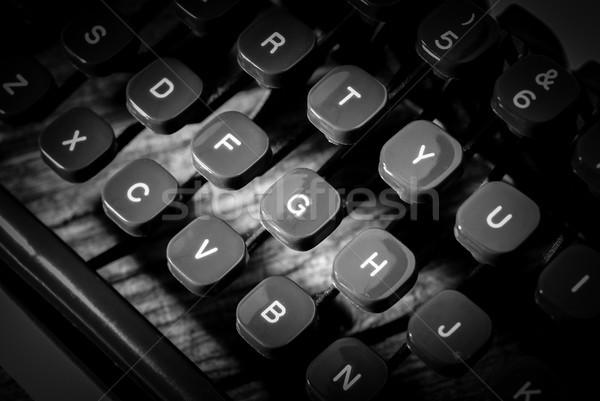 письма черно белые изображение связи Сток-фото © umbertoleporini