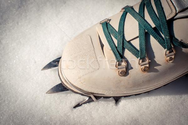 Montanhismo bota Foto stock © umbertoleporini