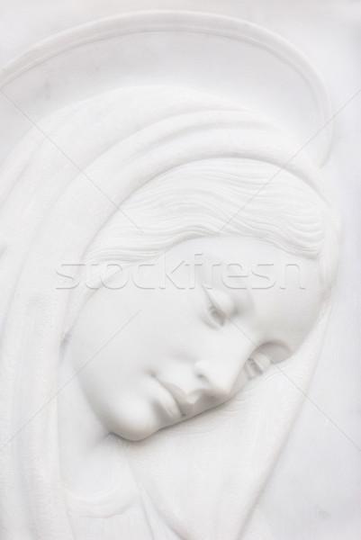 девственница надгробная плита скульптуры лице матери голову Сток-фото © umbertoleporini