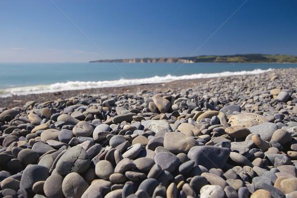 Spiaggia pietre texture Ocean Foto d'archivio © Undy