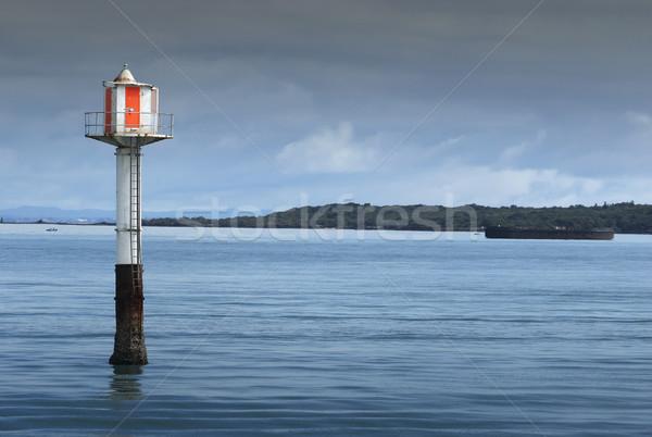 Balise garde canal Nouvelle-Zélande mer Photo stock © Undy
