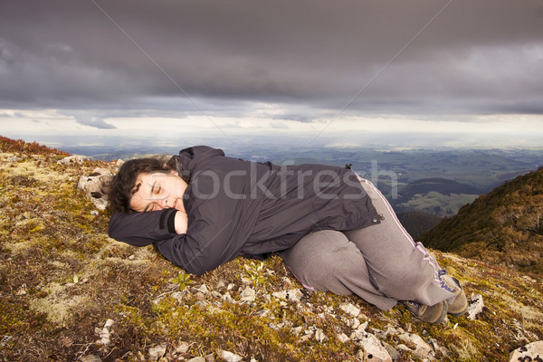 Snooze on top of the world Stock photo © Undy