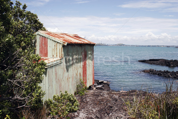 Rangitoto Island Boat Shed 02 Stock photo © Undy