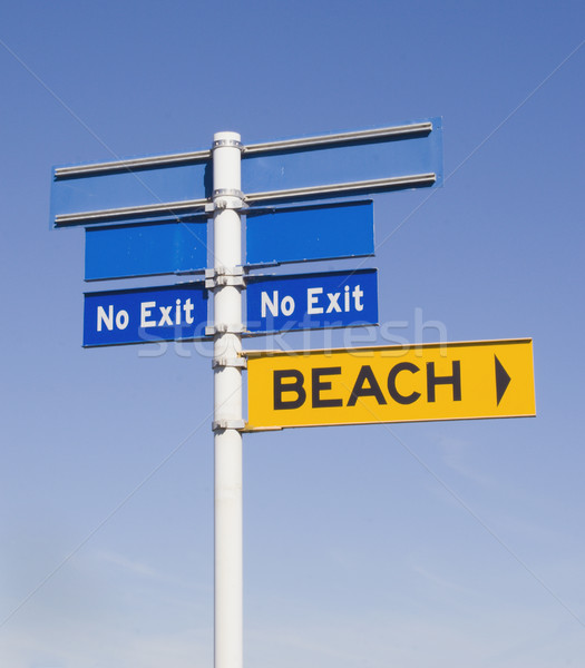 Stock photo: No exit from the beach