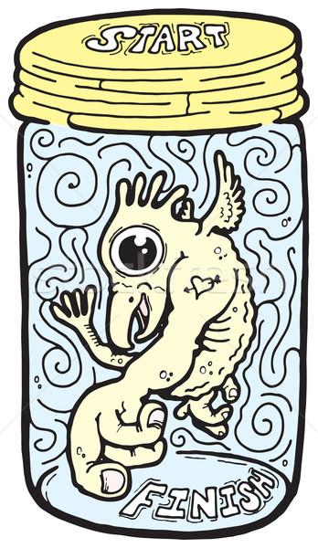 тварь банку иллюстрация мнимый весело лабиринт Сток-фото © Undy