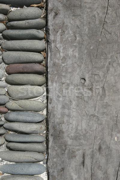 древесины каменные шаги Сток-фото © Undy