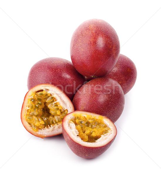 Paixão fruto isolado branco comida verde Foto stock © ungpaoman