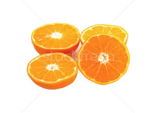 Fatia de laranja isolado branco comida natureza saúde Foto stock © ungpaoman