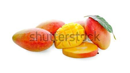 Manga fruto fatias água fundo Foto stock © ungpaoman