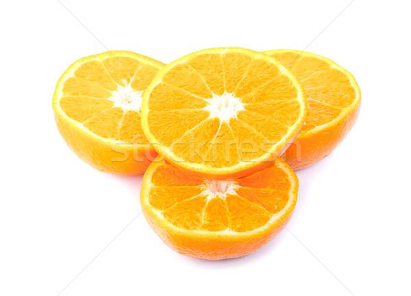 Fresco laranja isolado branco fruto fundo Foto stock © ungpaoman