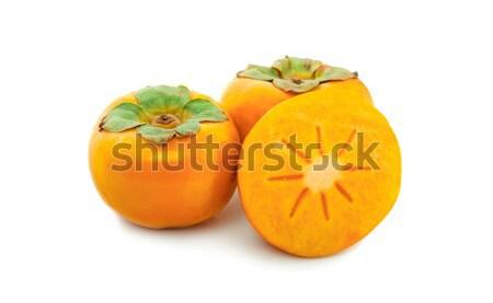 Vers rijp geïsoleerd witte natuur oranje Stockfoto © ungpaoman
