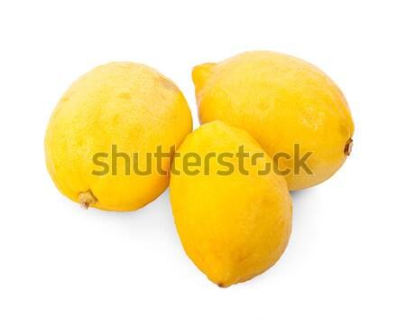 Limão isolado branco fruto fundo tropical Foto stock © ungpaoman