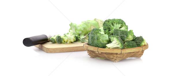 Friss brokkoli izolált fehér piac szín Stock fotó © ungpaoman