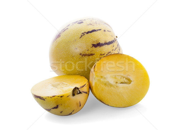 Pepino melon fruit isolated on white background with clipping pa Stock photo © ungpaoman