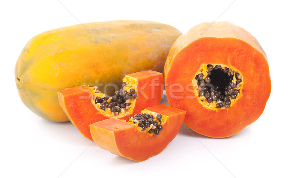 papaya isolated on a white background Stock photo © ungpaoman