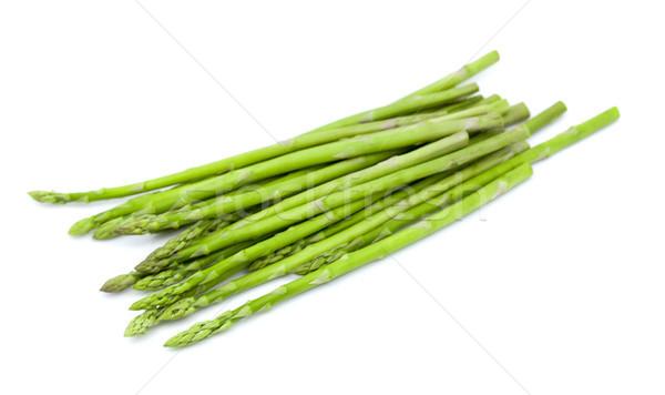 Espargos isolado branco natureza saúde verde Foto stock © ungpaoman
