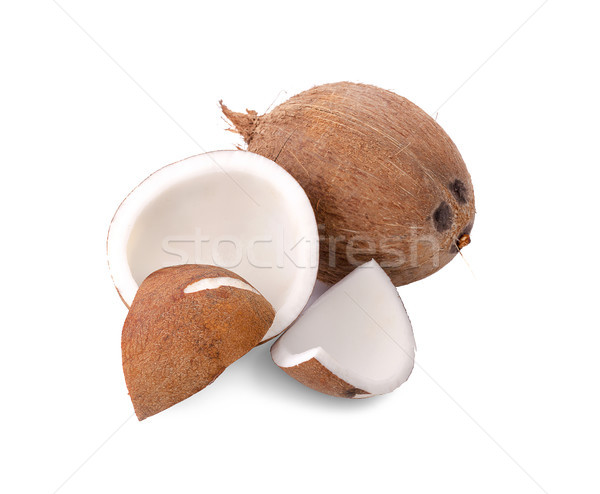 Isolado branco beber leite Óleo Foto stock © ungpaoman