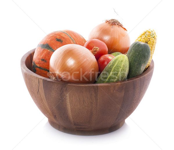 Composition with variety of raw organic vegetables and fruits. B Stock photo © ungpaoman