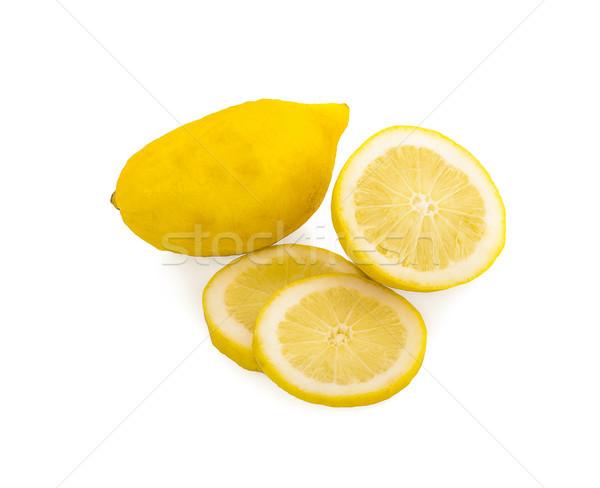 Limões isolado branco fundo verde beber Foto stock © ungpaoman