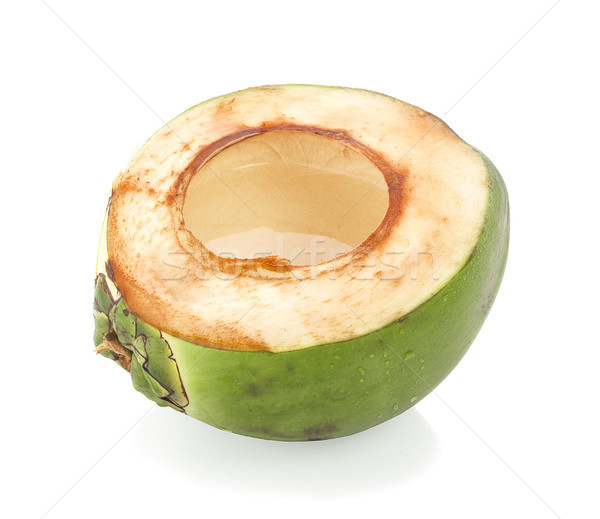 Gota de água verde coco isolado cair Foto stock © ungpaoman