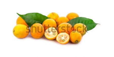 Tangerina laranja branco comida natureza fruto Foto stock © ungpaoman