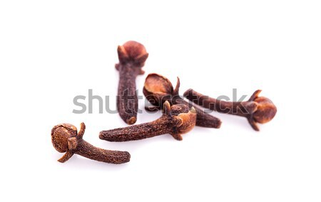 dry cloves on white background Stock photo © ungpaoman