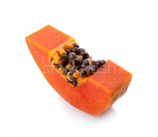 slices of sweet papaya on white background Stock photo © ungpaoman