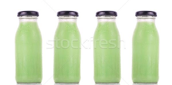 Pandan flavor milk isolated on white background Stock photo © ungpaoman