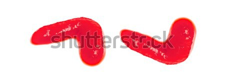Molho de tomate isolado branco textura comida fundo Foto stock © ungpaoman