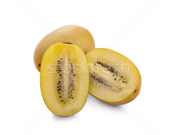 Amarelo ouro kiwi fruto branco natureza Foto stock © ungpaoman