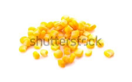 Maduro milho isolado branco fundo cor Foto stock © ungpaoman