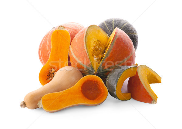 Colorful pumpkin and squash, Red Kuri, Kabocha, Butternut Stock photo © ungpaoman