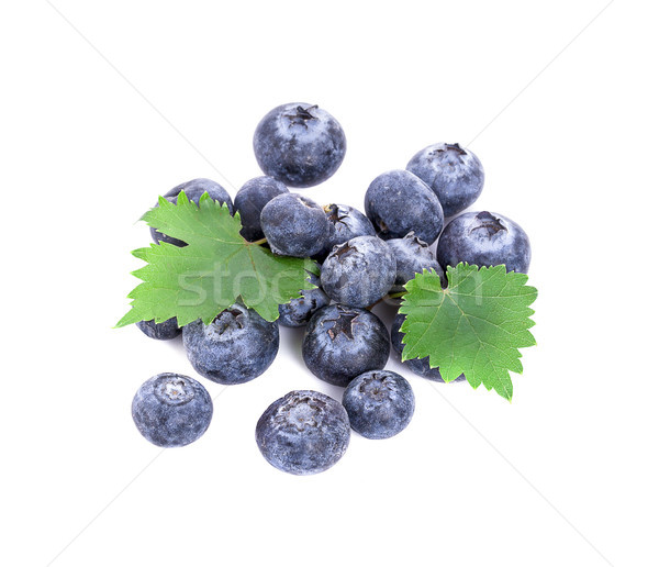 fresh blueberries isolated on white Stock photo © ungpaoman