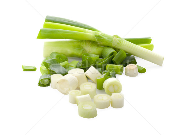 chopped spring onion or scallion isolated on white background  Stock photo © ungpaoman