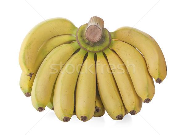 Bananas isolado maduro suculento frutas branco Foto stock © ungpaoman