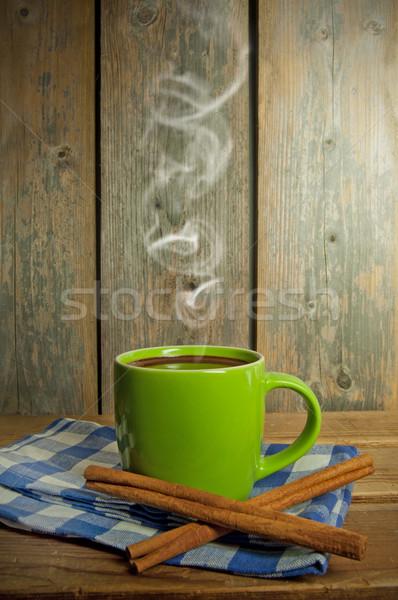горячий шоколад Кубок продовольствие шоколадом завтрак горячей Сток-фото © unikpix