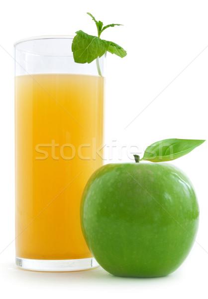 リンゴジュース ガラス 新鮮な リンゴ 白 食品 ストックフォト © unikpix